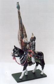 D129 Mounted Flag Bearer of Kutch